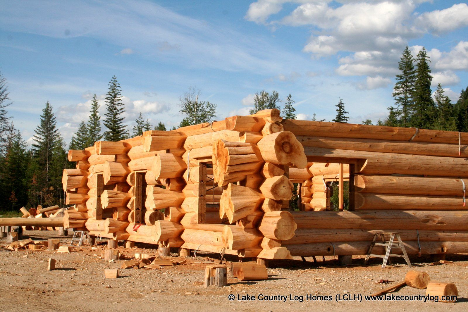 Western Red Cedar Log And Timber Frame