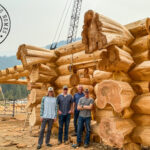 Handcrafted Western Red Cedar Log Home Construction