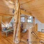 Custom Western Red Cedar Log Cabin Home Loft Area