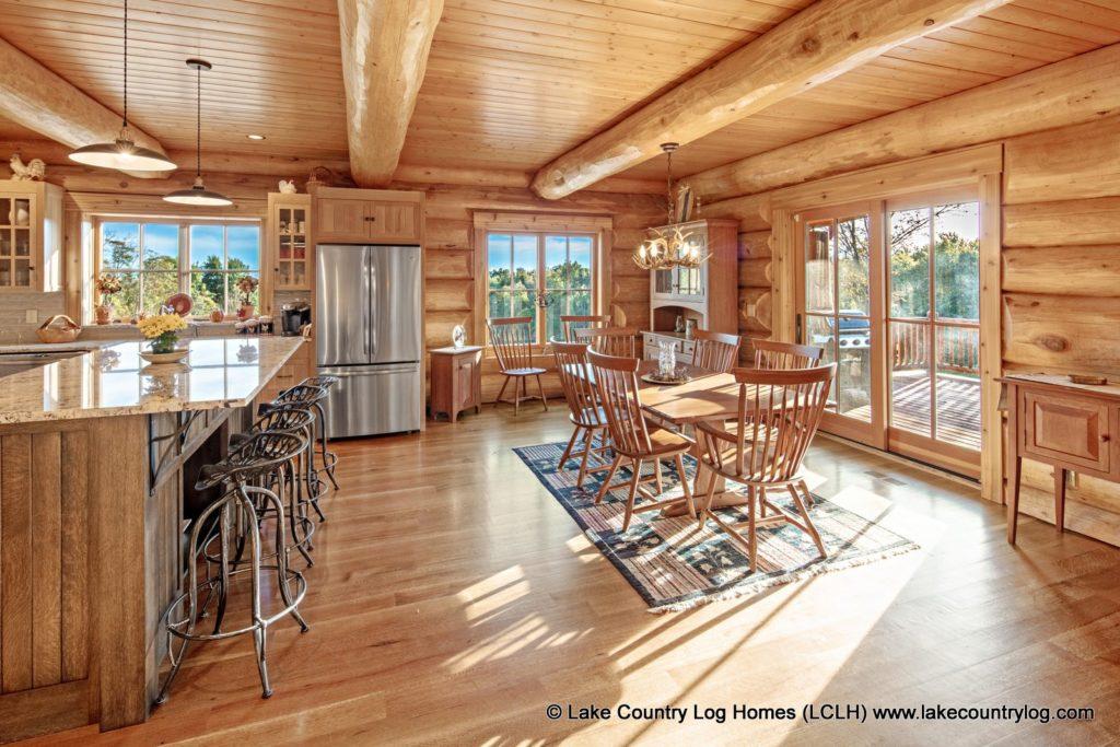 Interior Photos of Log and Timber Frame Homes