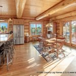 Custom Western Red Cedar Log Cabin Home Kitchen