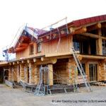 Custom Western Red Cedar Log Home Austria