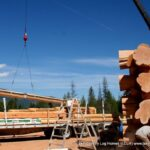 Hand Crafted Douglas Fir Log Cabin Home Under Construction at Our Yard in British Columbia for Delivery to the Yukon 09-05-19