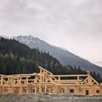 Hand Crafted Douglas Fir Log Cabin Home Constructed at Our Yard in British Columbia for Delivery to Revelstoke 03-25-21