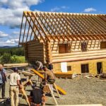 Hand Crafted Douglas Fir Log Cabin Home Constructed at our yard in British Columba and delivered to the Yukon