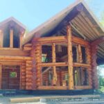 Hand Crafted Western Red Cedar Log Cabin Home Constructed at Our Yard in British Columbia for Delivery to Alaska 03-03-21