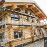 Hand Crafted Western Red Cedar Log Cabin Home constructed at our yard in British Columba and delivered to Austria