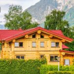 Hand Crafted Western Red Cedar Log Home built by Lake Country Log Homes in British Columbia Canada and shipped to Austria.