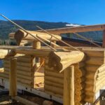 Hand Crafted Western Red Cedar Log Cabin Home constructed at our yard in British Columba and delivered to Cherryville, BC
