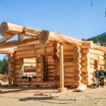 Hand Crafted Western Red Cedar Log Cabin Home Constructed at Our Yard in British Columba for delivery to Alberta
