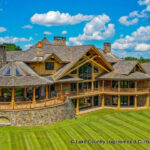 Luxury Handcrafted Post and Beam Log Home