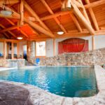 Handcrafted Log Post and Beam Pool House in Pennsylvania