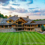 Luxury Handcrafted Post and Beam Log Home in Pennsylvania