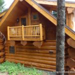 Handcrafted Western Red Cedar Log Balcony Railing