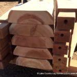 Handcrafted Western Red Cedar Spiral Log Stair Treads