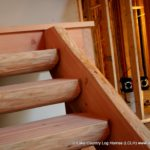 Handcrafted Douglas Fir Log Stairs