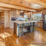 Handcrafted Western Red Cedar Log Cabin Home Kitchen