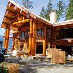 Handcrafted two story Western Red Cedar Log Home Coastal British Columbia - LCLH