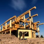 Handcrafted Western Red Cedar Log Home set up at clients building site in Montana - LCLH