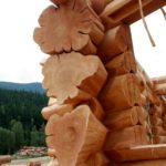 Handcrafted Western Red Cedar Log Home with Staggered Flared Character Butts - LCLH