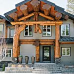 Western Red Cedar Post and Beam Entry