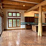 Hybrid Handcrafted Douglas Fir Post and Beam Log Home