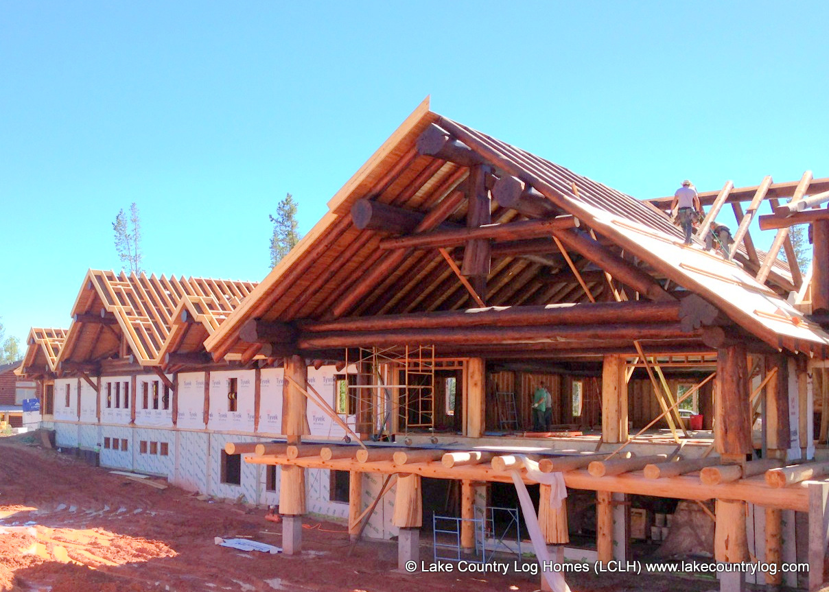 Our hand crafted Western Red Cedar log kits come prepared for conventional framing.