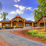 North Carolina Western Red Cedar Log Home with Staggered Ends and Flared Character Log Accents