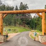 Western Red Cedar Driveway Entry in Colorado