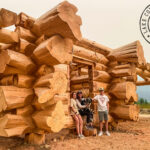 Flared Character Handcrafted Western Red Cedar Log Walls - British Columbia