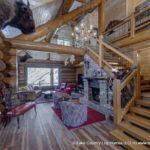 Western Red Cedar Log Home Entry built in Colorado