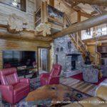 Western Red Cedar Log Home Living Room built in Colorado