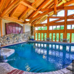 Post and Beam Handcrafted Log Pool House in Pennsylvania