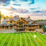 Post and Beam Handcrafted Log Cabin Home in Pennsylvania