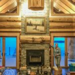 Hand Crafted Western Red Cedar Log Cabin Home constructed at our yard in British Columba and delivered to Ontario