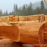 Hand Crafted Western Red Cedar Log Cabin Home Constructed at Our Yard in British Columbia for Delivery to Ontario 06-22-21