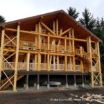 Western Red Cedar Covered Decks at Queen Charlotte Lodge BC