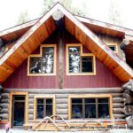 Western Red Cedar Log Home During Site Construction