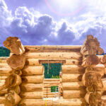 Western Red Cedar Lake Country Log Home at our Yard in British Columbia