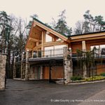 Western Red Cedar Log Cabin Home custom built for clients in Austria