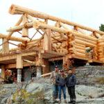 Western Red Cedar Log Cabin House built in Ontario, Canada
