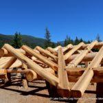 Western Red Cedar Log Roof System
