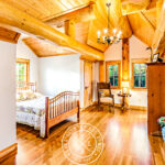 Post and Beam Handcrafted Western Red Cedar Log Cabin Home