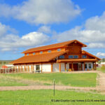 Western Red Cedar Post and Beam Log Barn