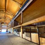 Western Red Cedar Log Post and Beam Barn built in Colorado