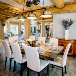 Western Red Cedar Post and Beam Log Home Dining Room